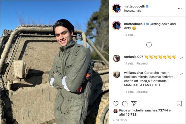Matteo, figlio di Andrea Bocelli